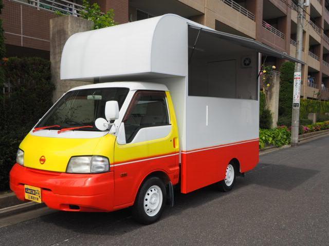 日産 バネットトラック 移動販売車 キッチンカー ケータリングカー 両側販売口 カウンター差し込み左右有 シンク 100Vコンセント 換気扇 ブレーカー付き